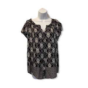 Faded glory women black and white woman's blouse
